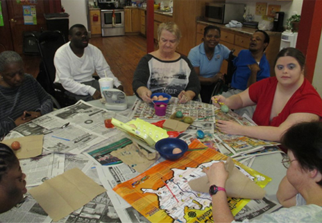 An image of people enjoying meaningful activities at our Life Skills Development Center.